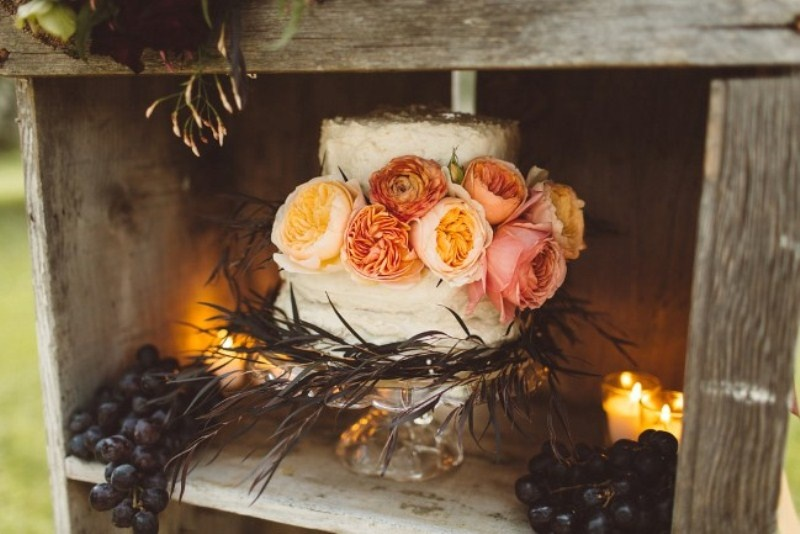 Picture Of elegant rustic outdoor fall wedding styled shoot  13