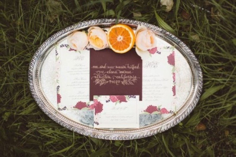 Picture Of elegant rustic outdoor fall wedding styled shoot  14