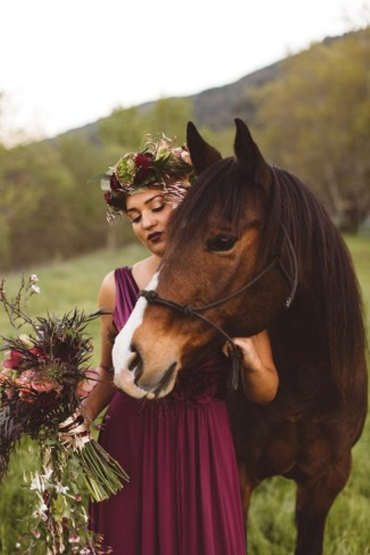 Picture Of elegant rustic outdoor fall wedding styled shoot  15