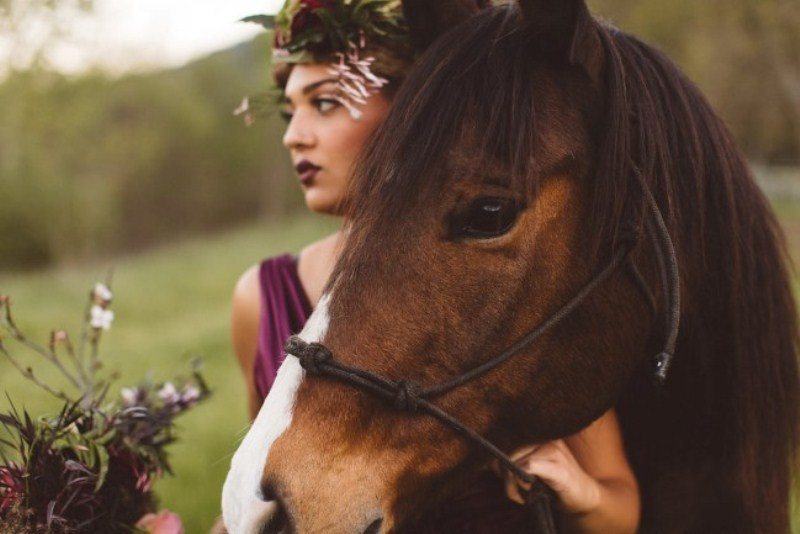 Picture Of elegant rustic outdoor fall wedding styled shoot  16
