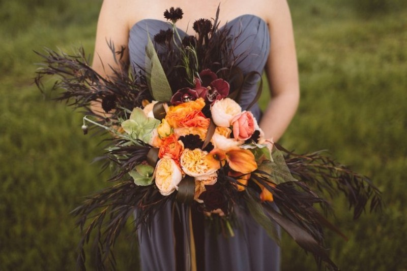 Picture Of elegant rustic outdoor fall wedding styled shoot  17
