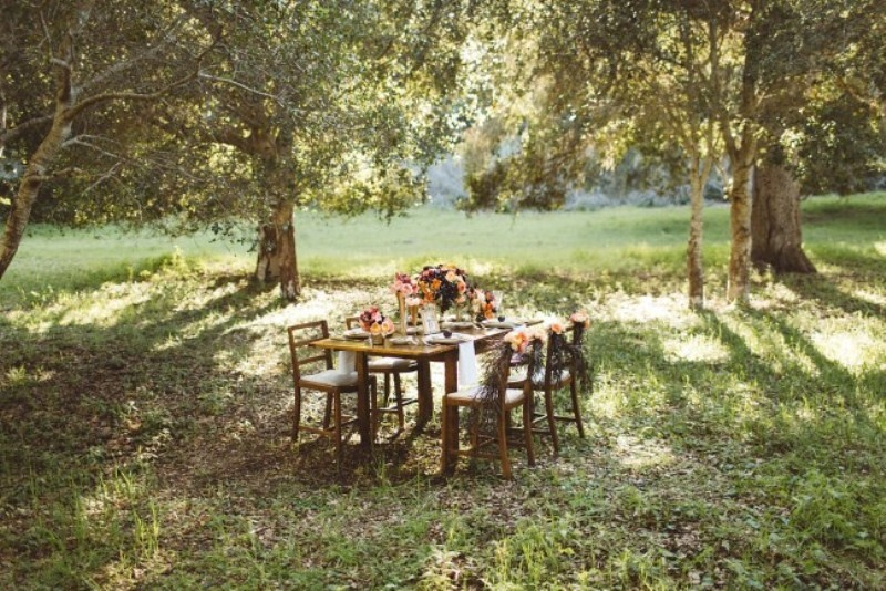 Picture Of elegant rustic outdoor fall wedding styled shoot  3