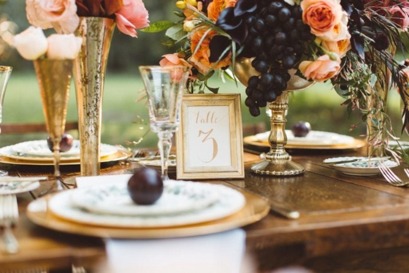 Picture Of elegant rustic outdoor fall wedding styled shoot  4