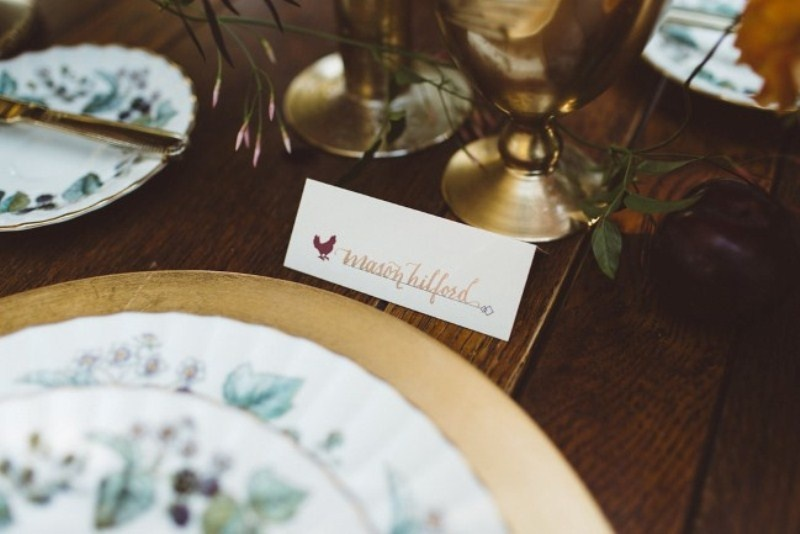 Picture Of elegant rustic outdoor fall wedding styled shoot  5