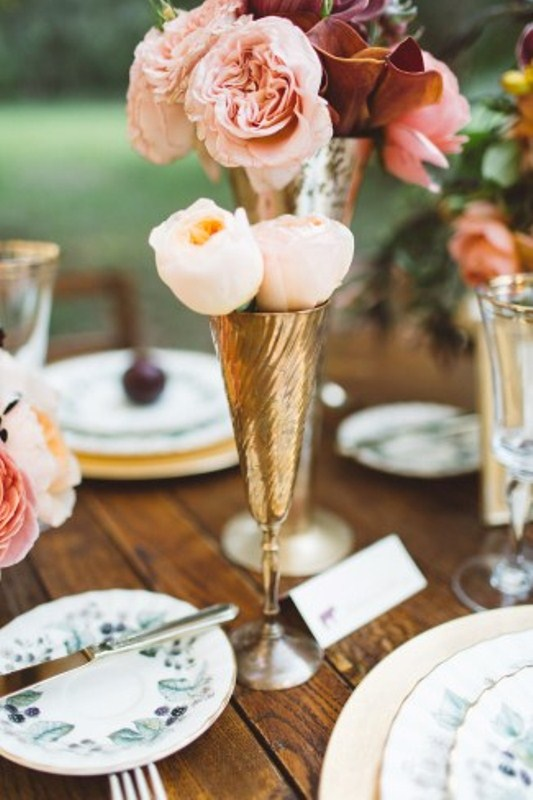 Picture Of elegant rustic outdoor fall wedding styled shoot  8