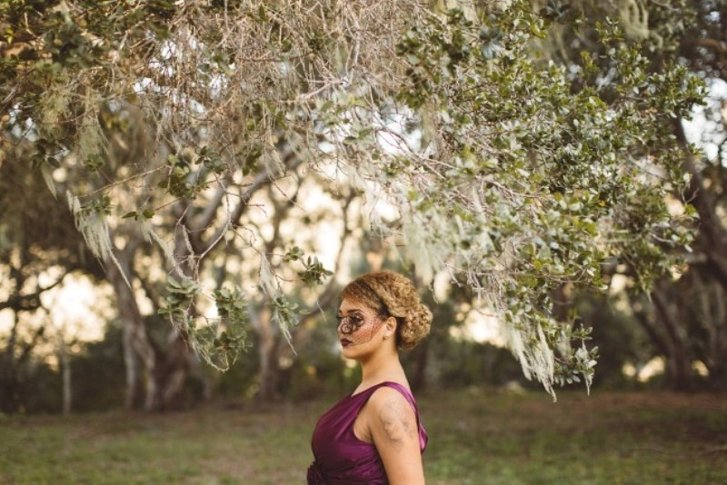 Picture Of elegant rustic outdoor fall wedding styled shoot  9