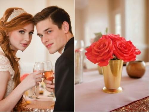 Elegant Shiny Gold Wedding Inspiration