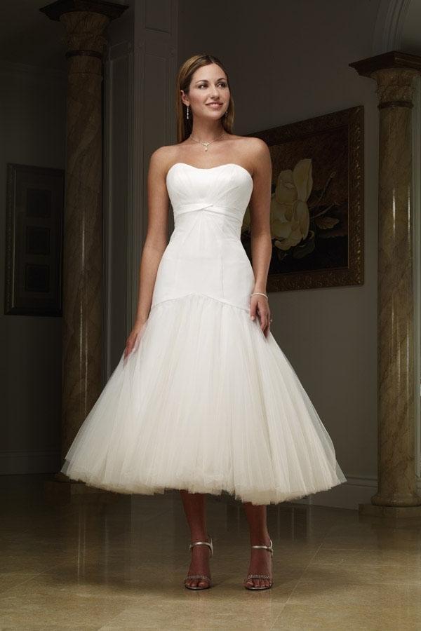 Elegant Tea Length Wedding Dresses Dress Blog Edin