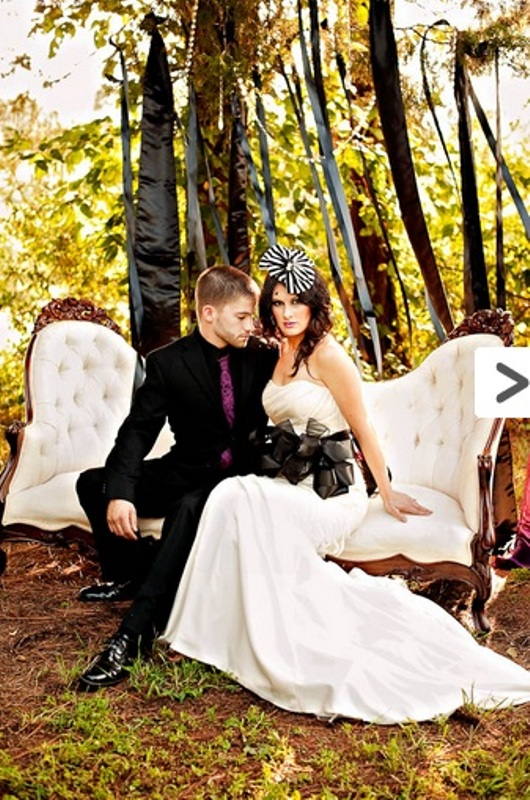 Elegant Tim Burton Styled Wedding Inspiration | Weddingomania