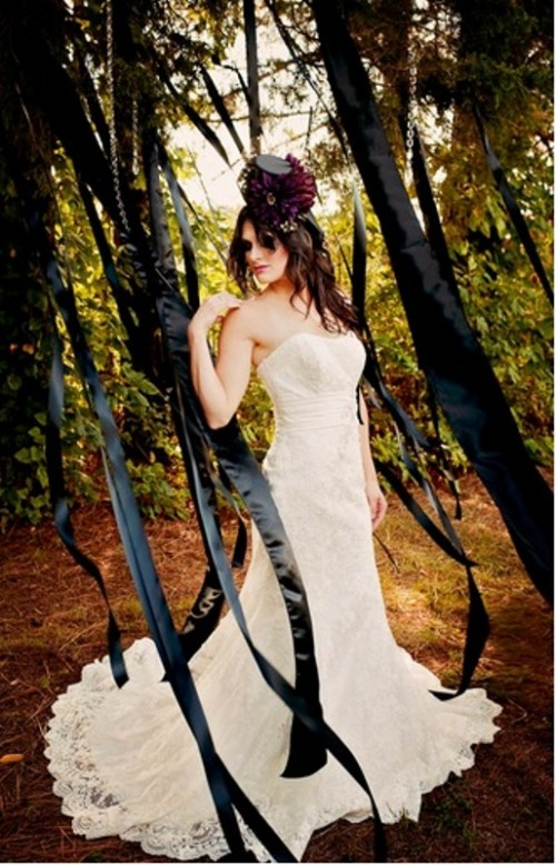 Elegant Tim Burton Styled Wedding Inspiration