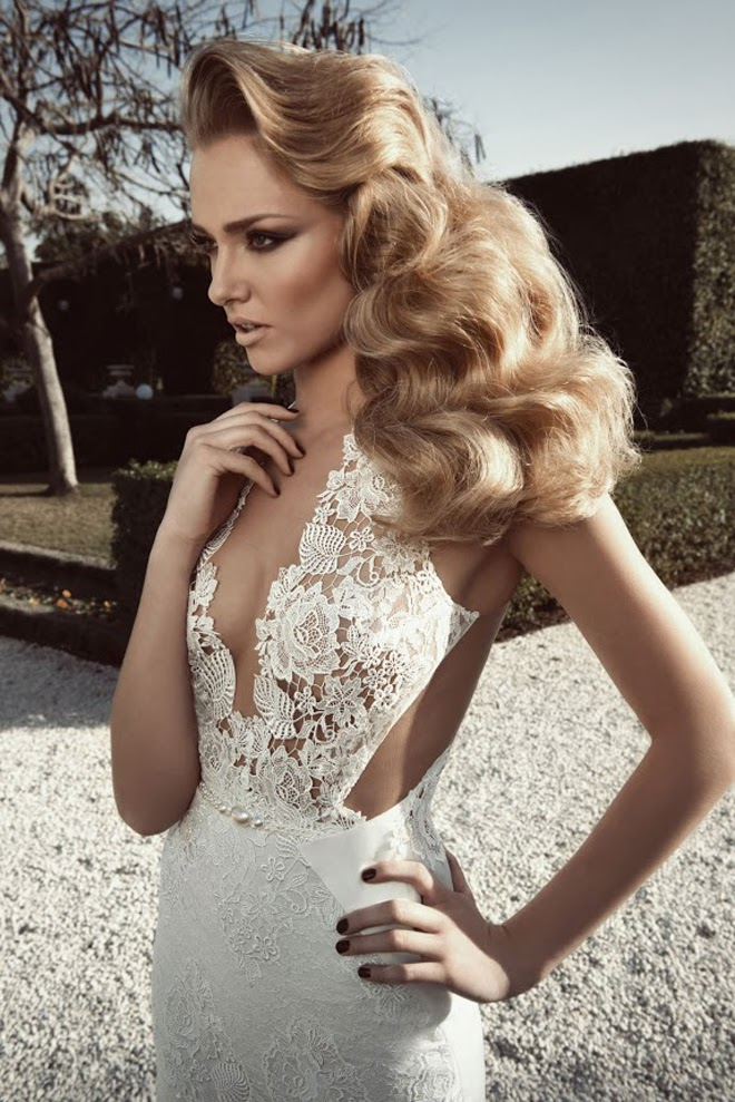 Elegant Wedding Dresses Collection With Lace And Low Cuts