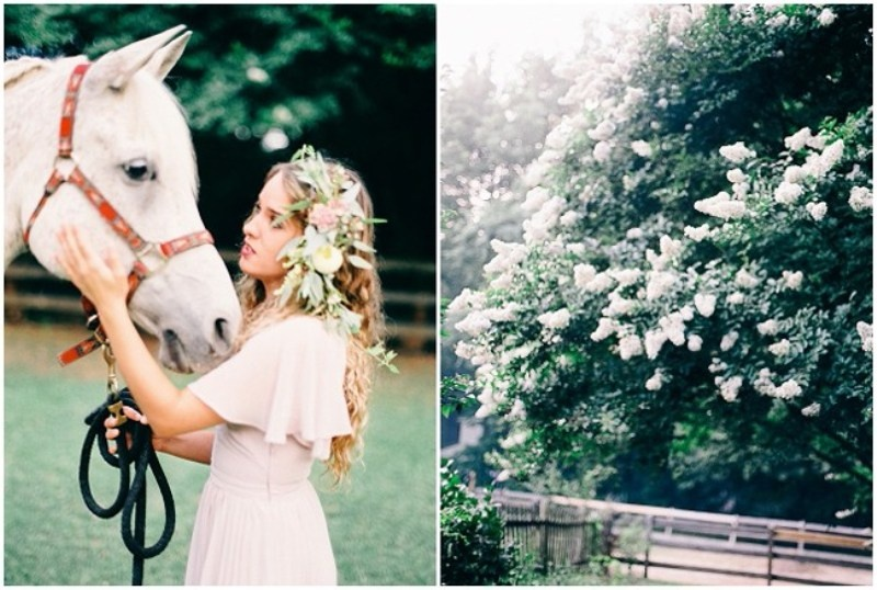 Picture Of enchanting bohemian equestrian styled shoot  5