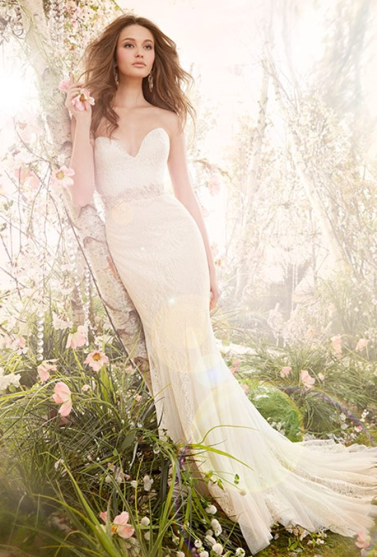 Picture Of enchanting classics 35 most gorgeous strapless wedding dresses  1