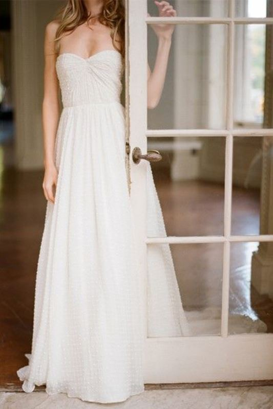 Picture Of enchanting classics 35 most gorgeous strapless wedding dresses  10