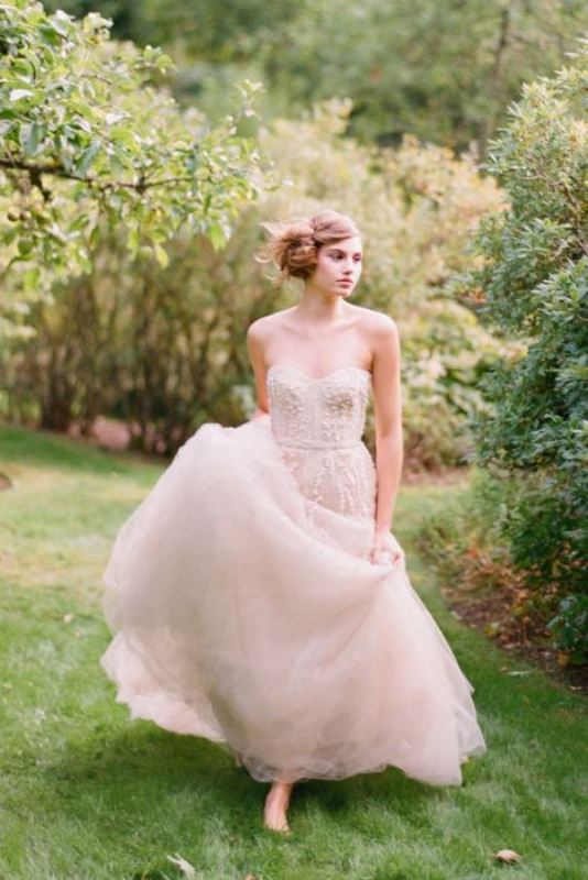 Picture Of enchanting classics 35 most gorgeous strapless wedding dresses  16