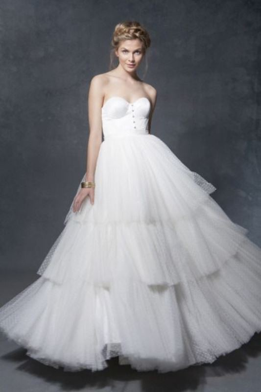 Picture Of enchanting classics 35 most gorgeous strapless wedding dresses  17
