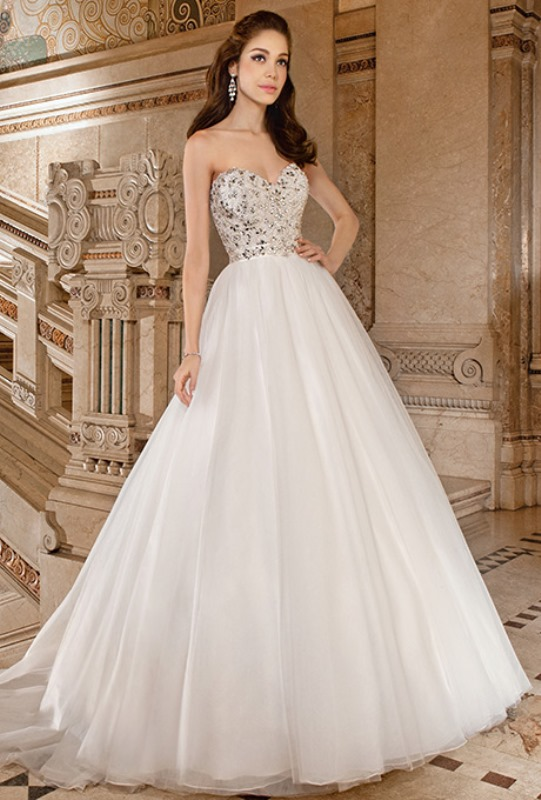 Picture Of enchanting classics 35 most gorgeous strapless wedding dresses  25