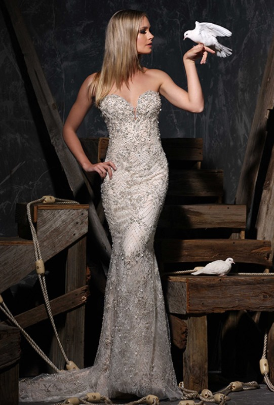 Picture Of enchanting classics 35 most gorgeous strapless wedding dresses  31