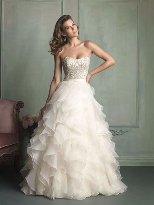 Picture Of enchanting classics 35 most gorgeous strapless wedding dresses  33