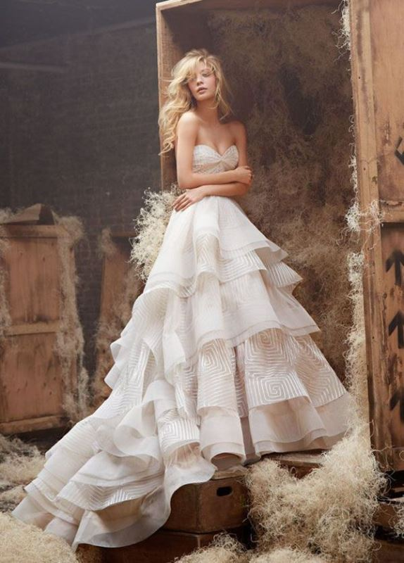 Picture Of enchanting classics 35 most gorgeous strapless wedding dresses  6