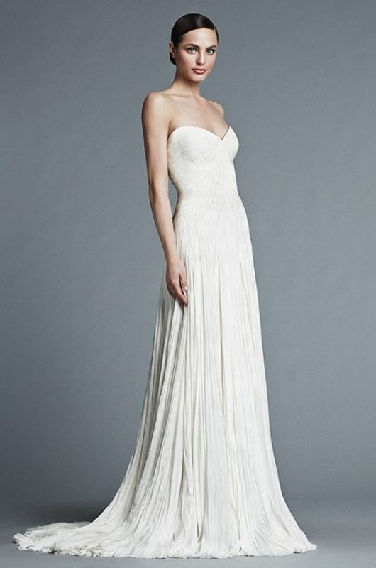 Picture Of enchanting classics 35 most gorgeous strapless wedding dresses  7
