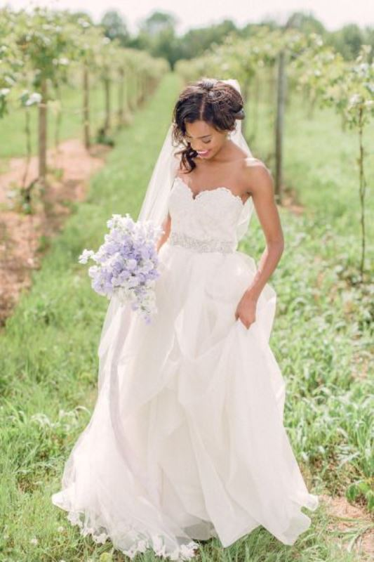Picture Of enchanting classics 35 most gorgeous strapless wedding dresses  9