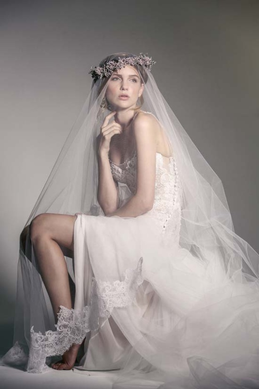 Picture Of enchanting crown of flowers fashion bridal inspiration  1