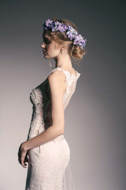 Picture Of enchanting crown of flowers fashion bridal inspiration  10