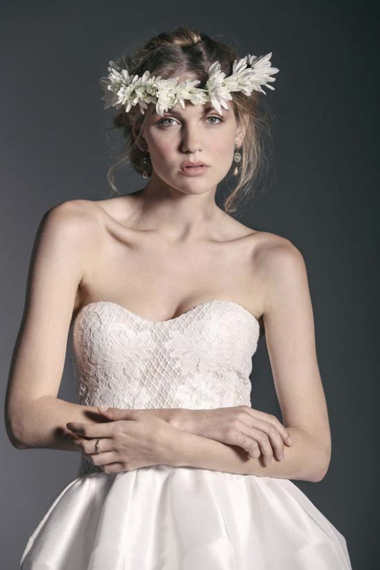 Picture Of enchanting crown of flowers fashion bridal inspiration  14