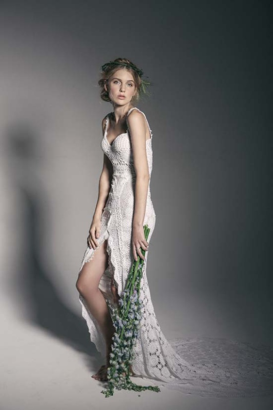 Picture Of enchanting crown of flowers fashion bridal inspiration  16