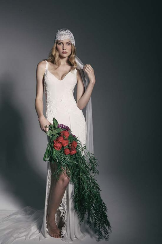 Picture Of enchanting crown of flowers fashion bridal inspiration  18