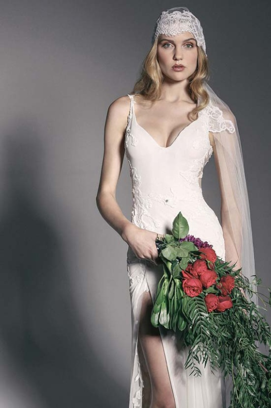 Picture Of enchanting crown of flowers fashion bridal inspiration  19