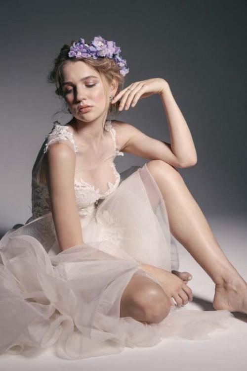Enchanting 'Crown Of Flowers' Fashion Bridal Inspiration