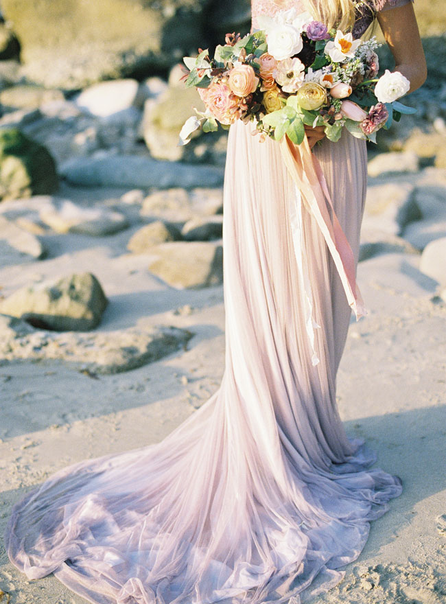 Of ethereal seaside bridal shoot with a lavender wedding gown 6