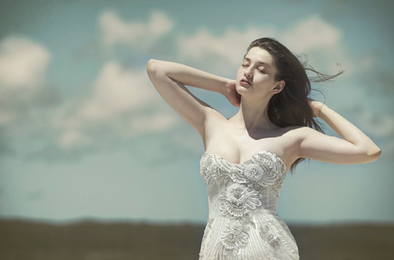 Picture Of ethereal wulfilas message bridal gowns collection from george wu  11