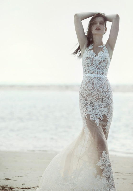 Picture Of ethereal wulfilas message bridal gowns collection from george wu  12