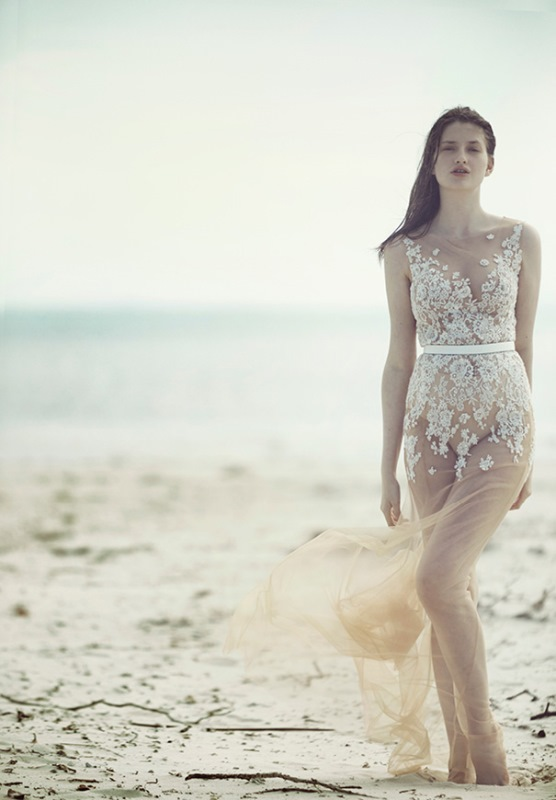 Picture Of ethereal wulfilas message bridal gowns collection from george wu  13