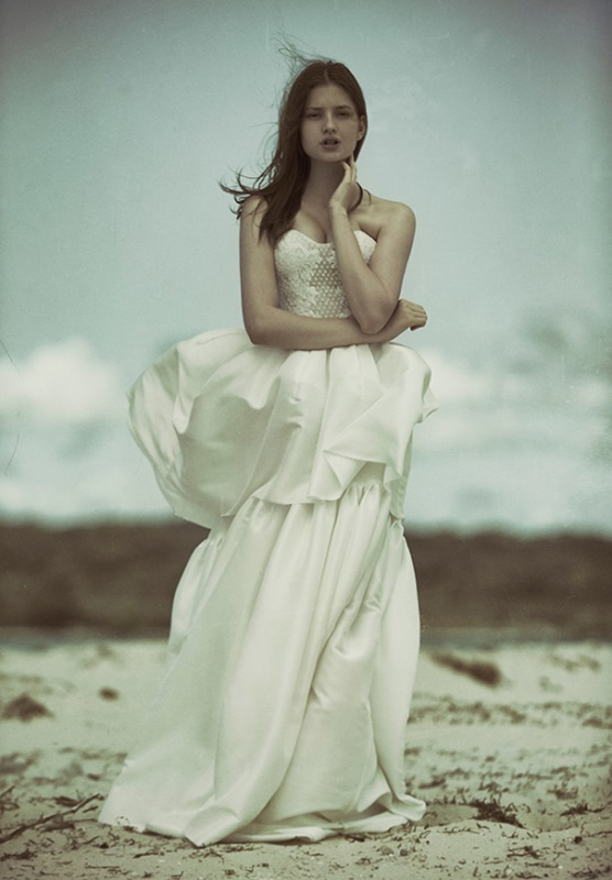 Picture Of ethereal wulfilas message bridal gowns collection from george wu  2