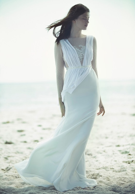 Picture Of ethereal wulfilas message bridal gowns collection from george wu  4