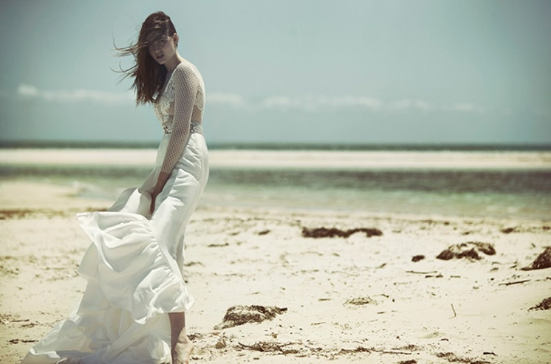 Picture Of ethereal wulfilas message bridal gowns collection from george wu  5