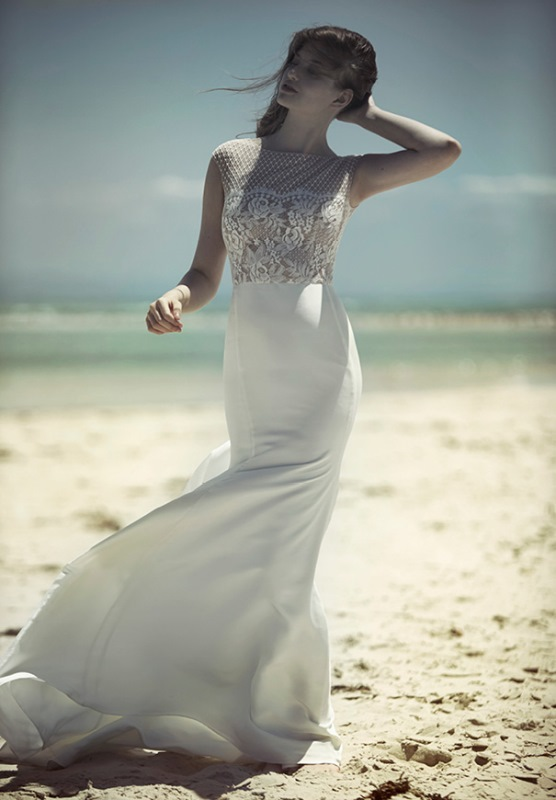 Picture Of ethereal wulfilas message bridal gowns collection from george wu  6