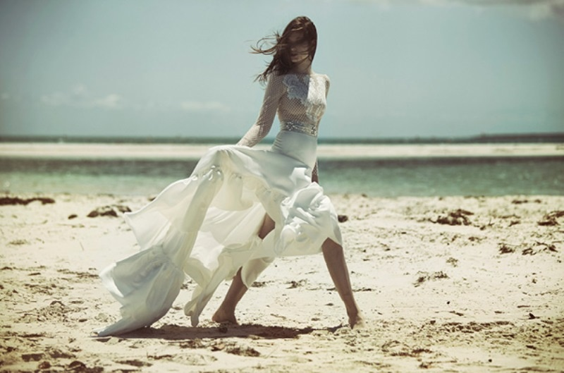Picture Of ethereal wulfilas message bridal gowns collection from george wu  7