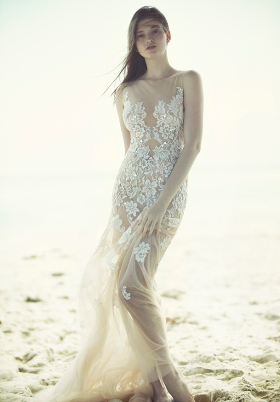 Picture Of ethereal wulfilas message bridal gowns collection from george wu  8