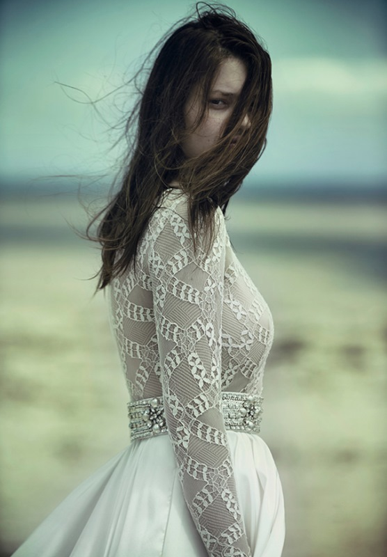 Picture Of ethereal wulfilas message bridal gowns collection from george wu  9