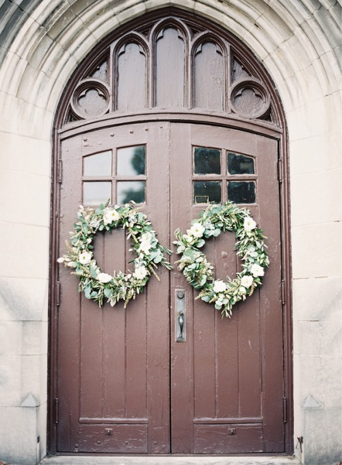 Evergreen DIY Wedding Wreath