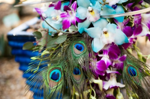 Exciting Peacock Themed Wedding At The Zoo