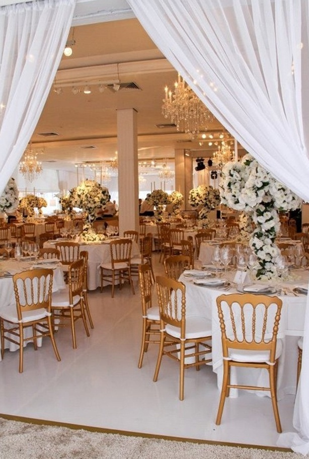 Exquisite Gold And White Wedding Ideas Weddingomania