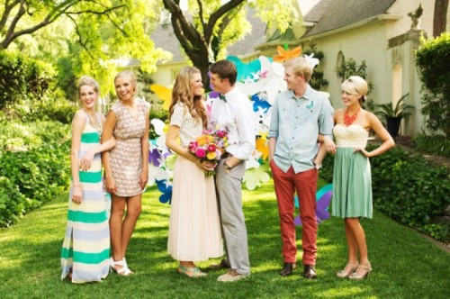Extraordinary And Cheerfully Bright Summer Garden Wedding Inspiration