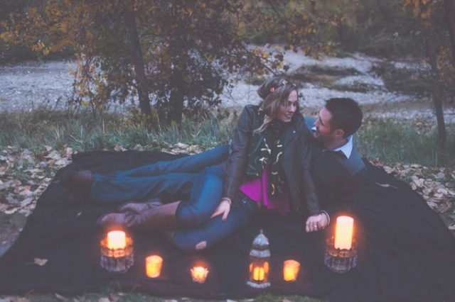 Picture Of extremely cozy coffee shop engagement session  13