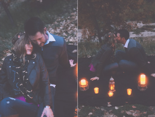 Picture Of extremely cozy coffee shop engagement session  14